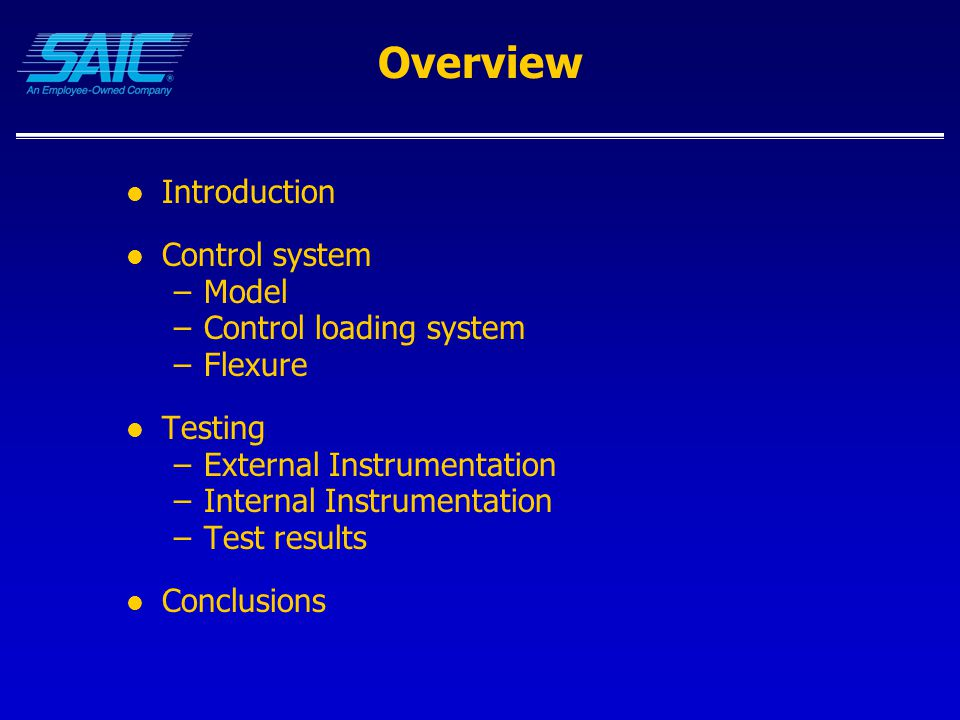 Conclusions A/C Criteria data must: –Specify where the force and position sensors are for the test –Test data should be taken with an external test system at the point of pilot force application –For a two pilot a/c, both sets of controls should be measured –Specific tests should be made to measure flexure between the pilot and the control surface Simulator control loading must: –Include aircraft control system flexure in the model Linkages and controls Beware of double accounting