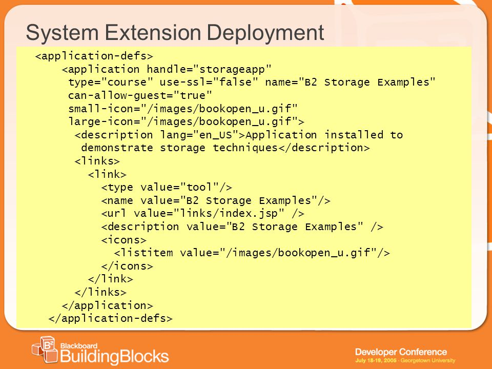 System Extension Deployment <application handle=