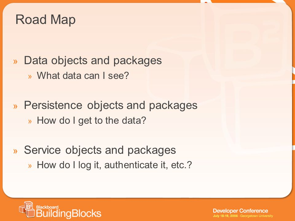 Road Map » Data objects and packages » What data can I see.