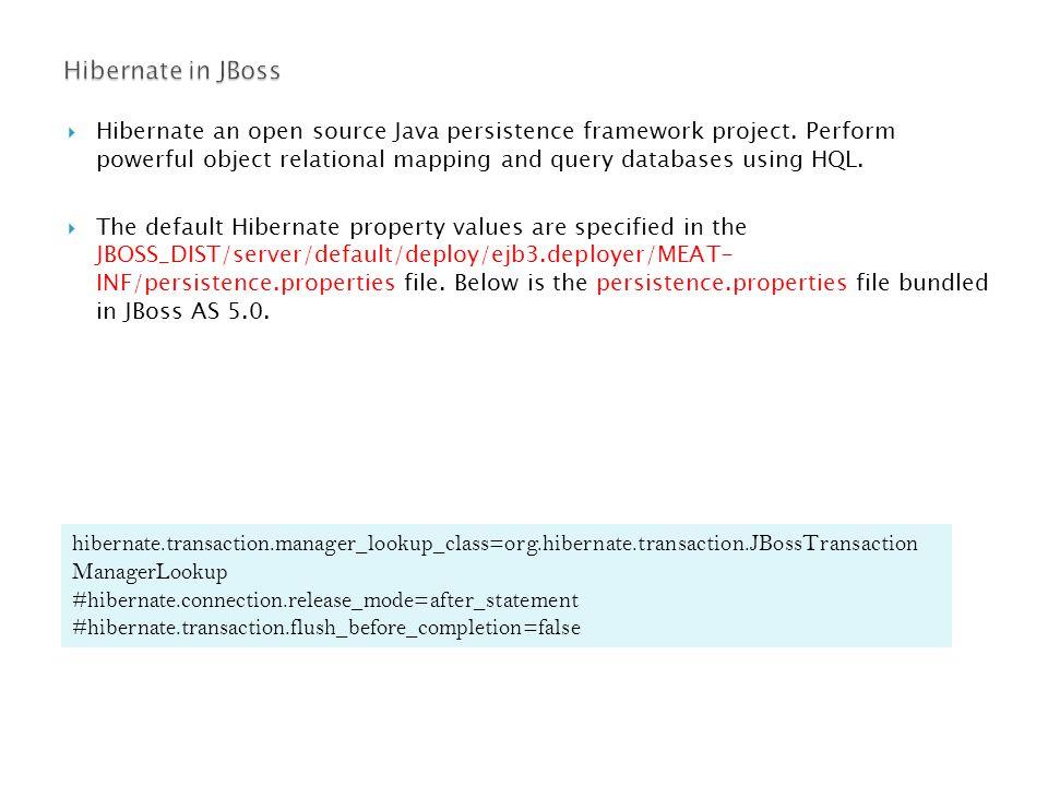  Hibernate an open source Java persistence framework project.