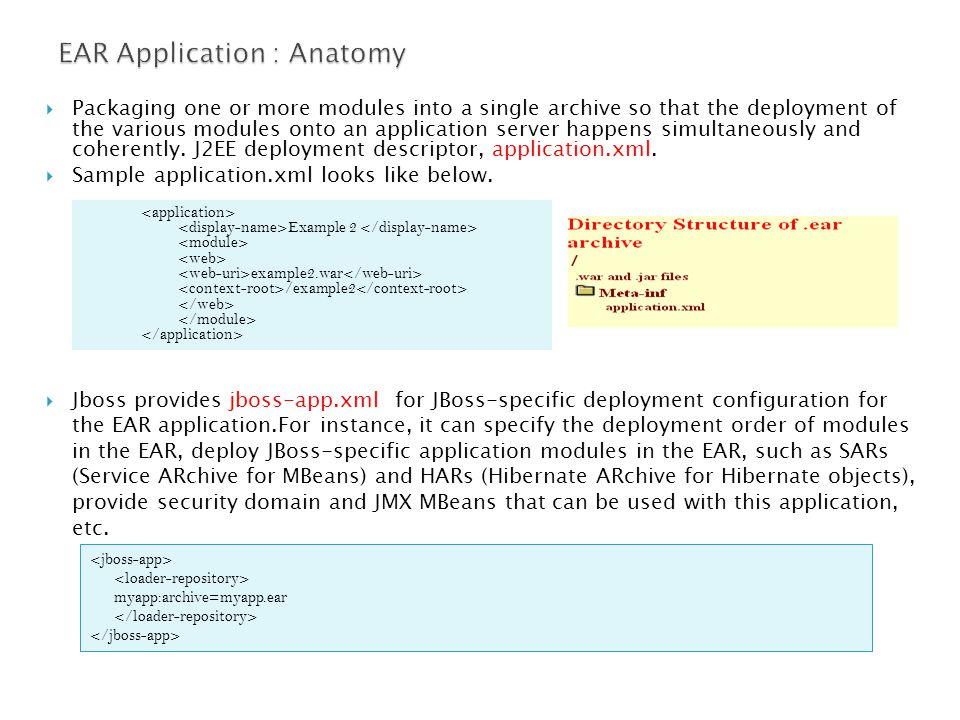  Packaging one or more modules into a single archive so that the deployment of the various modules onto an application server happens simultaneously and coherently.