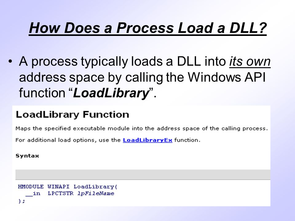 How Does a Process Load a DLL.