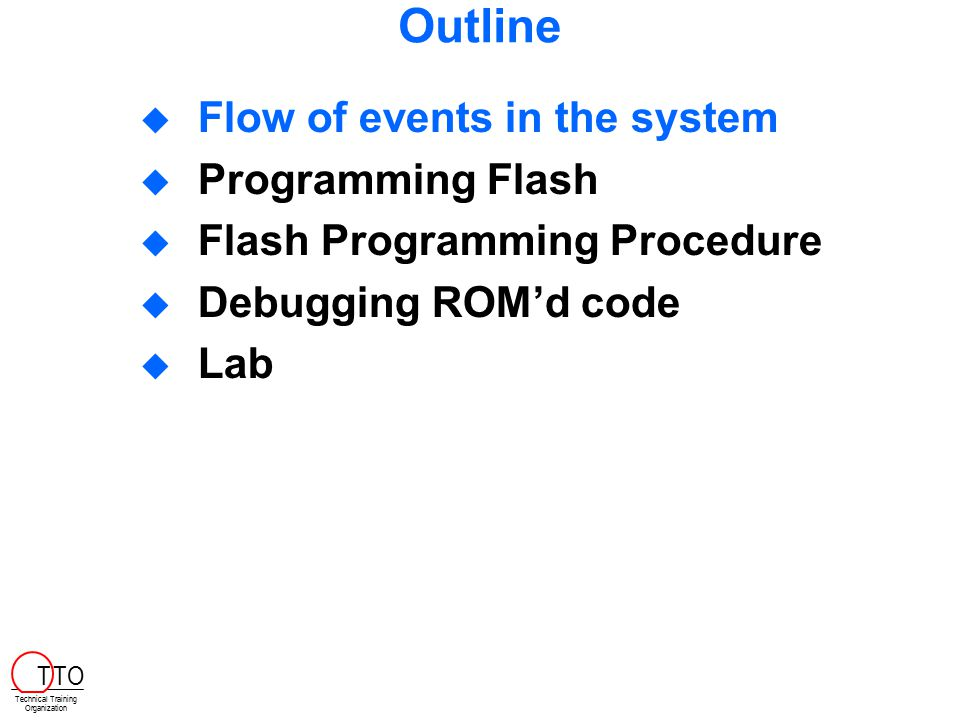 Flash/Boot Procedure Modify.cdb, memory manager and do the following:  Create necessary memory areas (e.g.