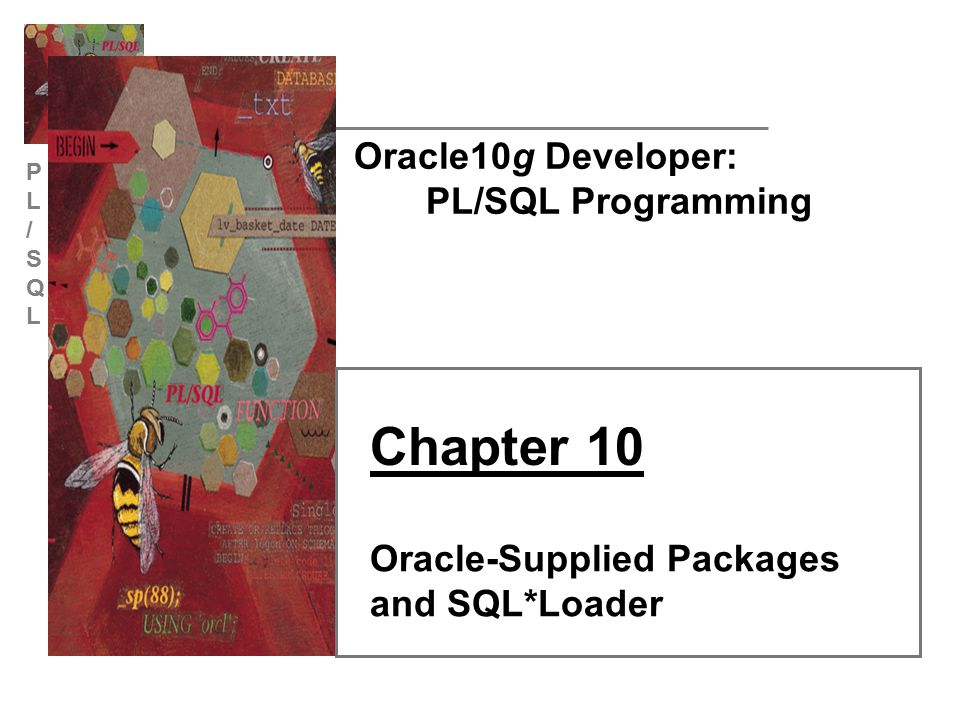 PL/SQLPL/SQL Oracle10g Developer: PL/SQL Programming22 LOBs Enable the storage of large objects as columns in a database table Can hold up to 4GB of data Multiple LOB columns allowed All except BFILE are stored internally in the database A LOB column contains pointer to actual LOB data