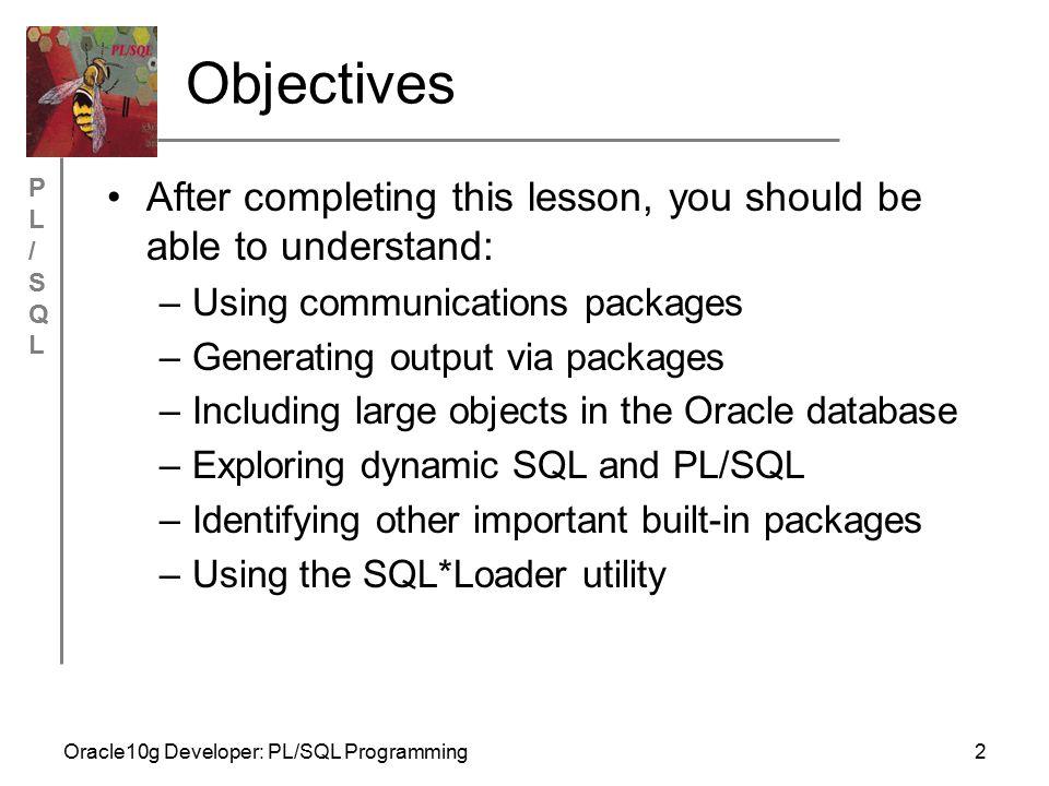 PL/SQLPL/SQL Oracle10g Developer: PL/SQL Programming23 DBMS_LOB Example