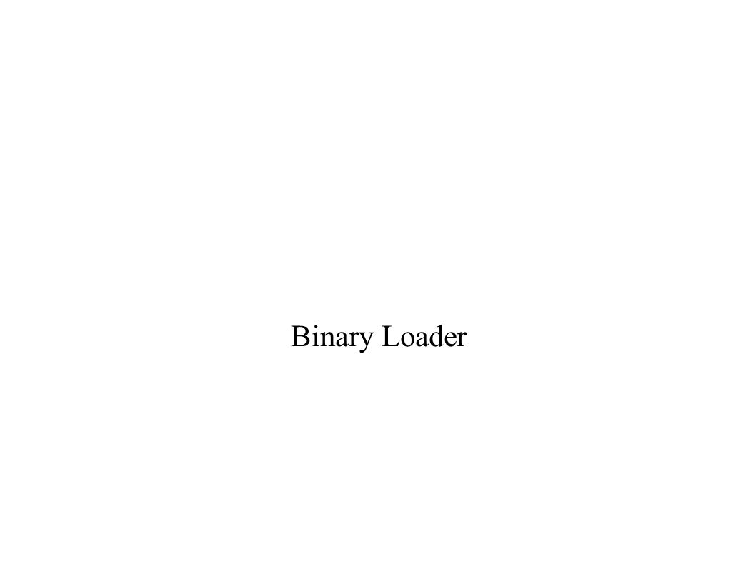 What is done by binary loader.