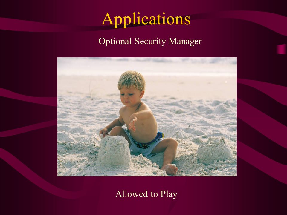 Applications Allowed to Play Optional Security Manager