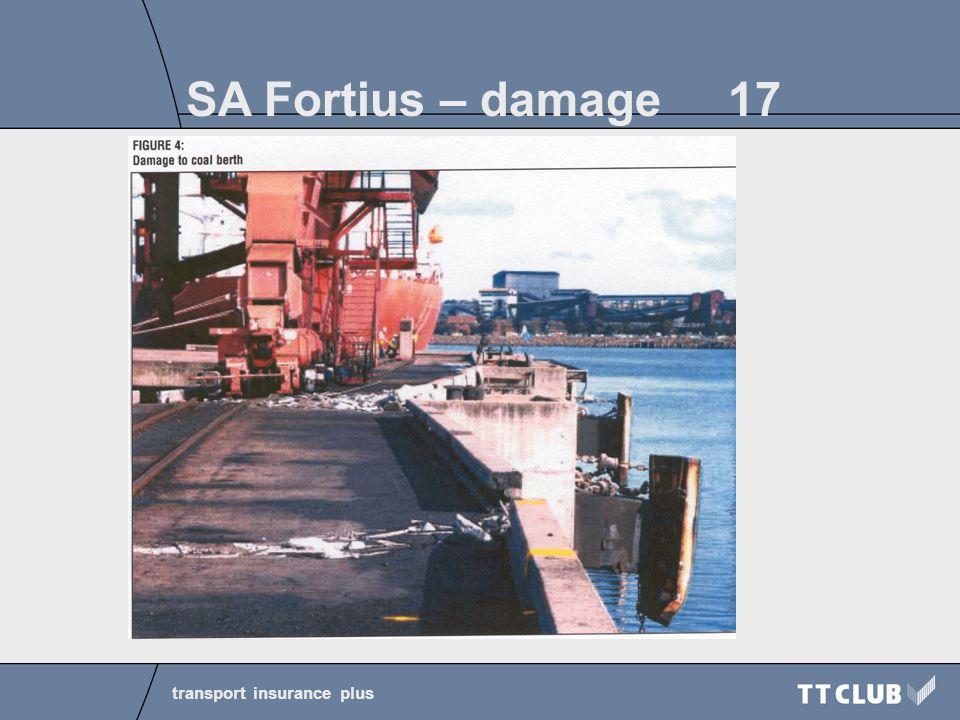 transport insurance plus SA Fortius – damage 17