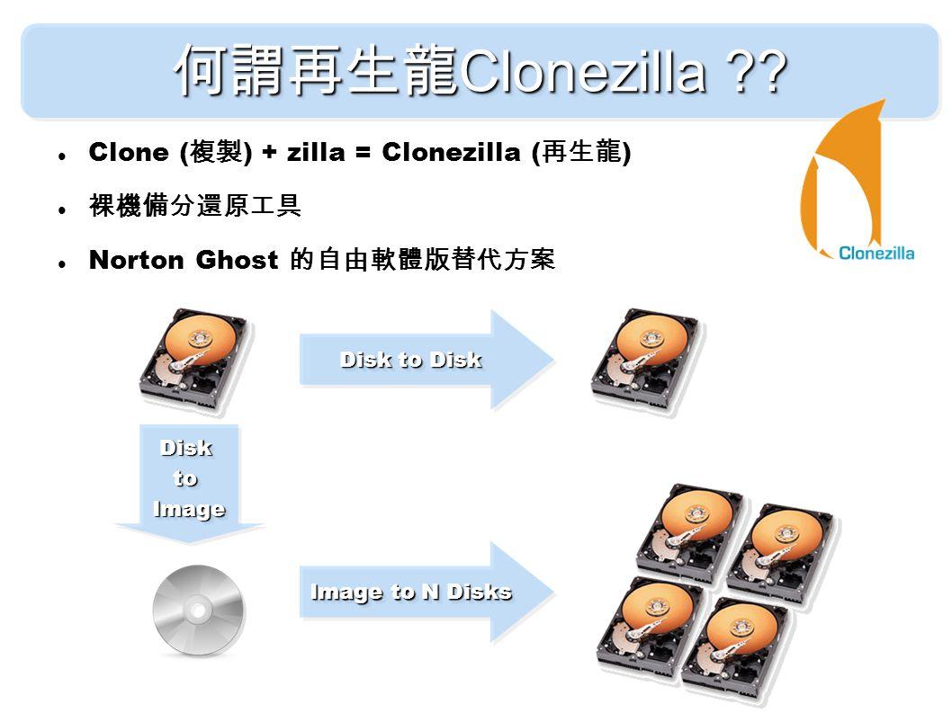 何謂再生龍 Clonezilla ?.
