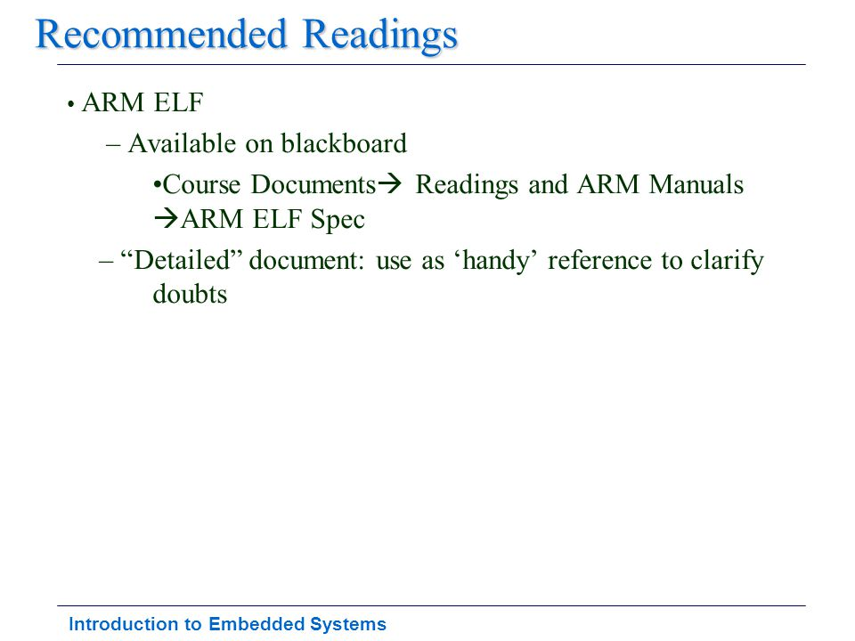 Introduction to Embedded Systems AXD Listing (4/11)