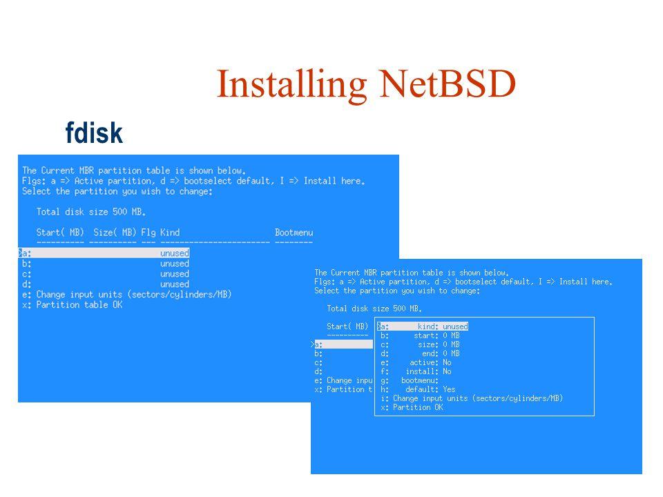 Installing NetBSD fdisk