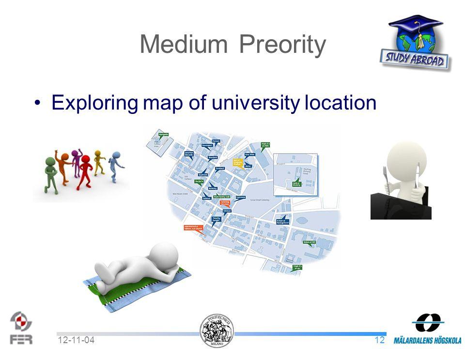 1212-11-04 Medium Preority Exploring map of university location