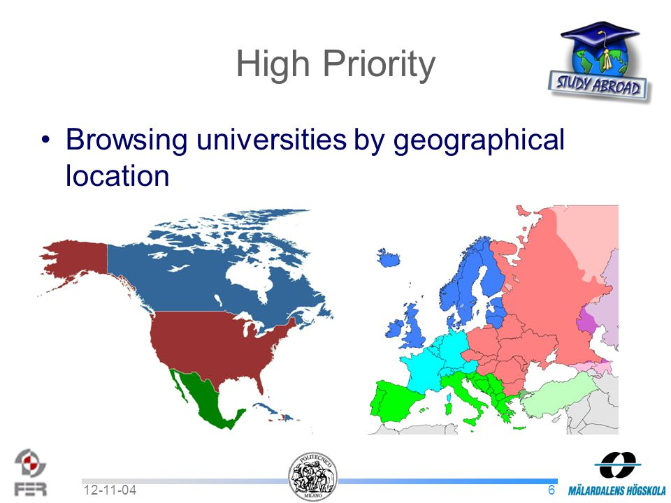 612-11-04 High Priority Browsing universities by geographical location