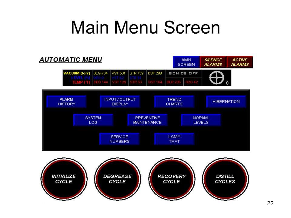 Main Menu Screen 22