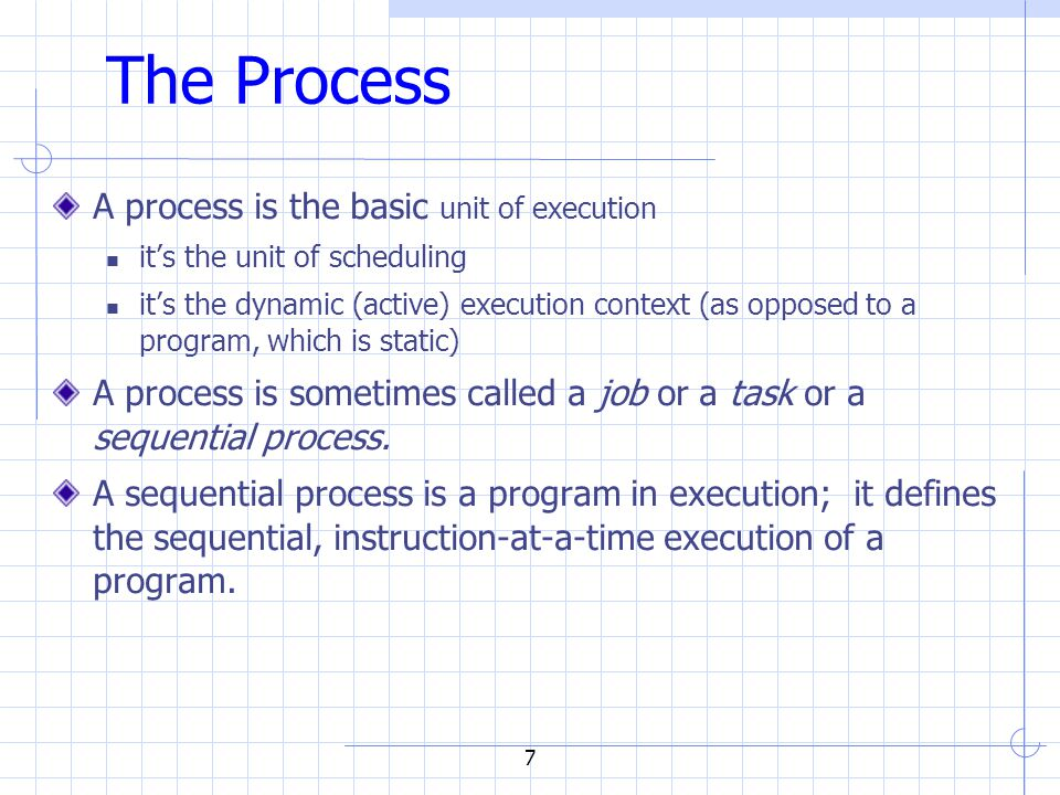 8 What's in a Process.