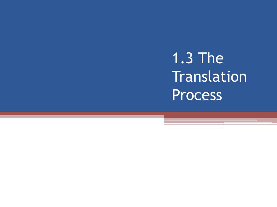 1.3 The Translation Process