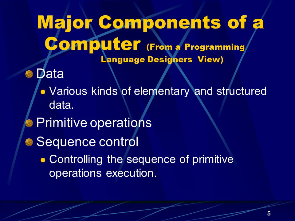 4 2.1. The Structure And Operation Of A Computer A computer is an integrated set of algorithms and data structures capable of storing and executing pr