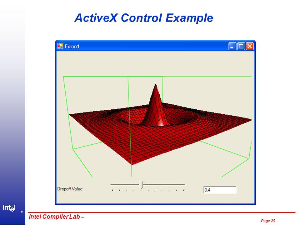 ® Page 29 Intel Compiler Lab – ActiveX Control Example