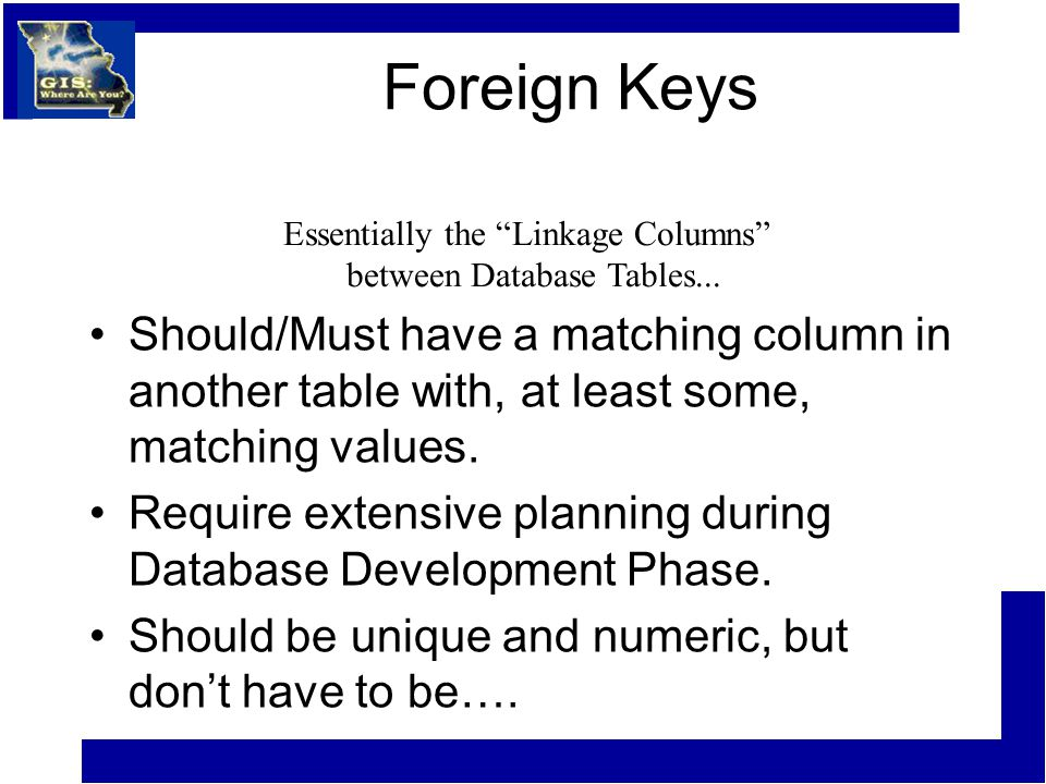 Foreign Keys Should/Must have a matching column in another table with, at least some, matching values.