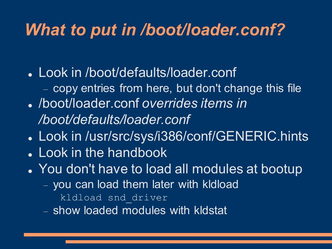What to put in /boot/loader.conf.