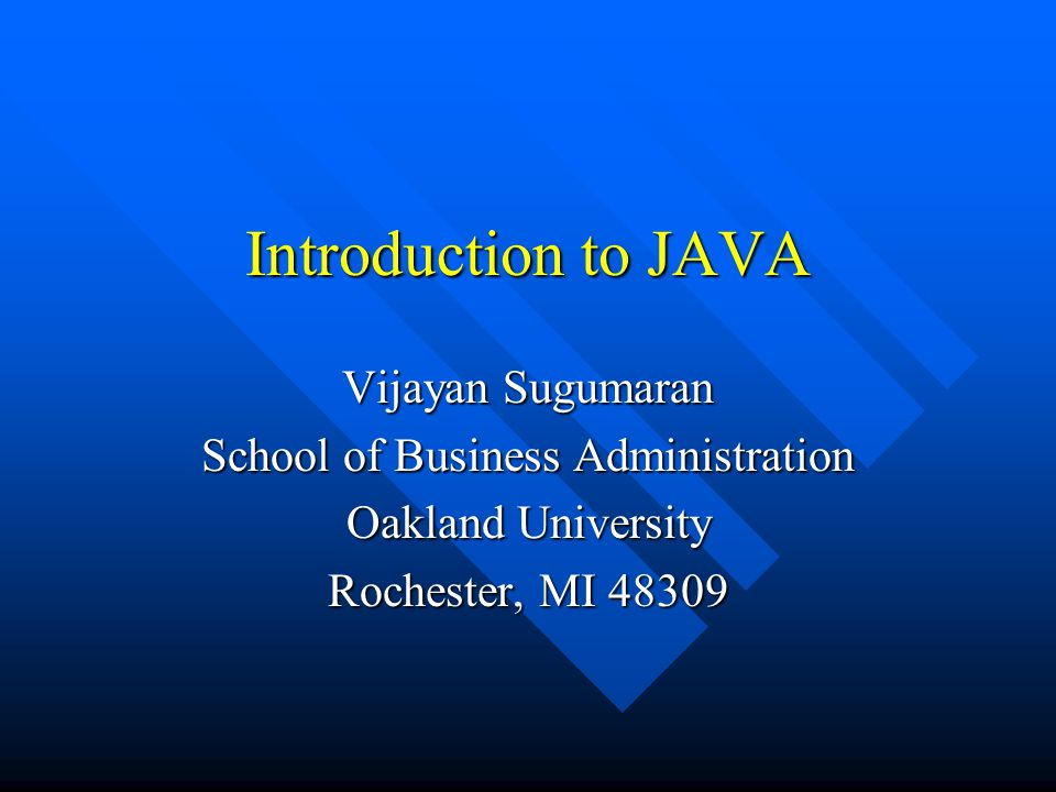 Introduction to JAVA n Ancestor to JAVA - Oak –small, robust, architecture independent, Object- Oriented, language to control interactive TV.