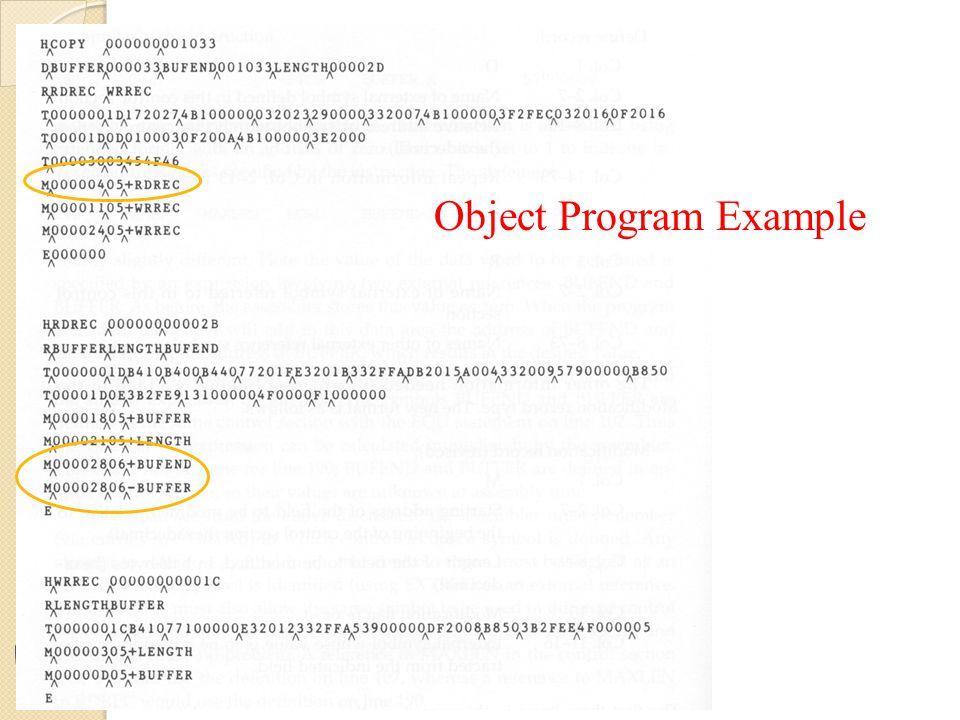 Object Program Example