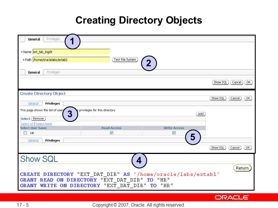 Copyright © 2007, Oracle. All rights reserved. 17 - 26 Data Pump Files Location Full Notes Page