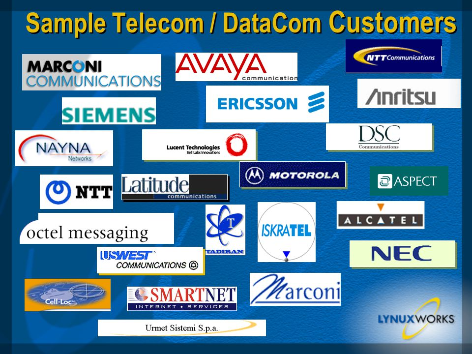 Sample Telecom / DataCom Customers