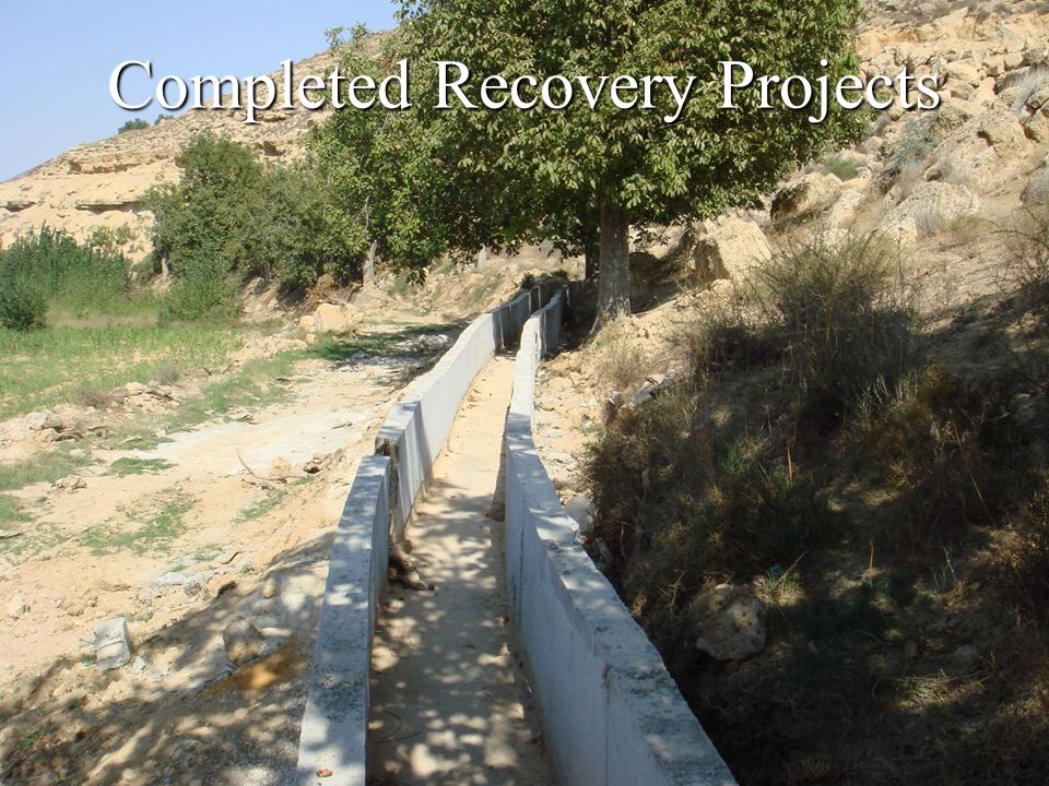 Completed Recovery Projects