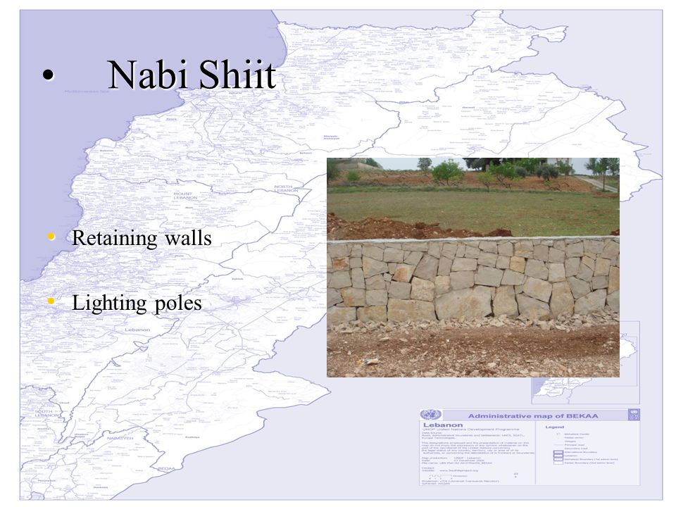Nabi Shiit Nabi Shiit Retaining walls Retaining walls Lighting poles Lighting poles