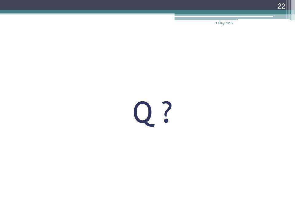 Q ? 22 1 May 2015