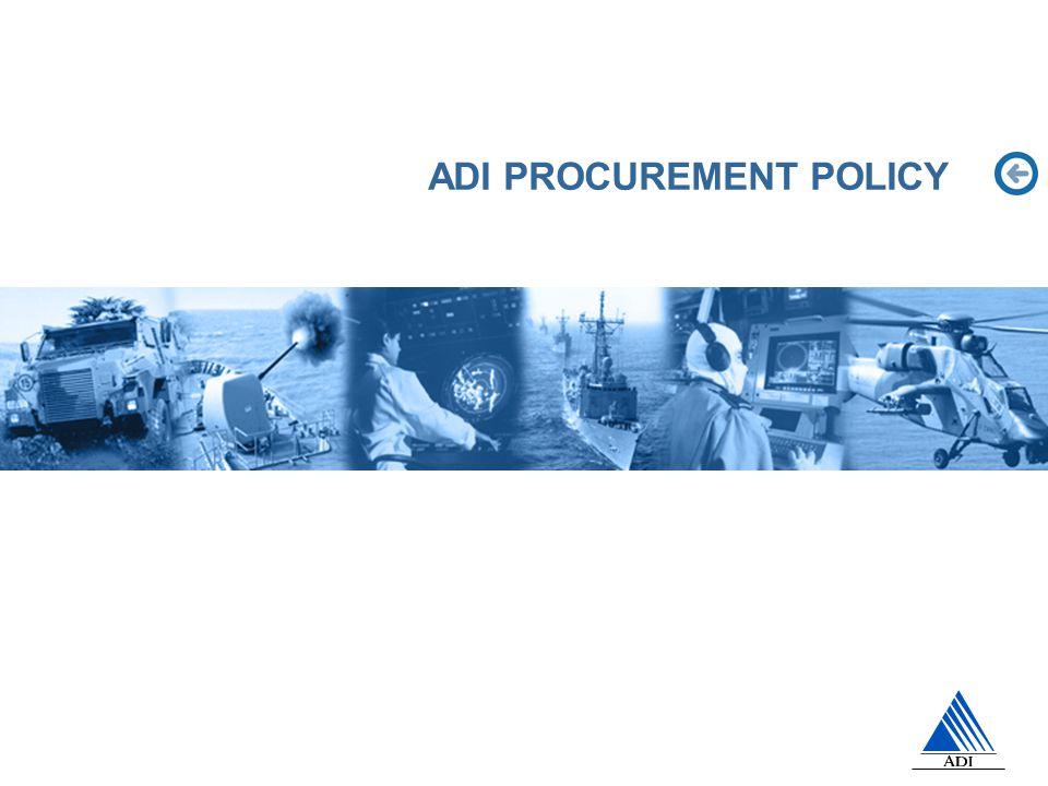 ADI PROCUREMENT POLICY