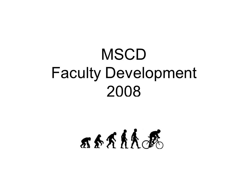 MSCD Faculty Development 2008