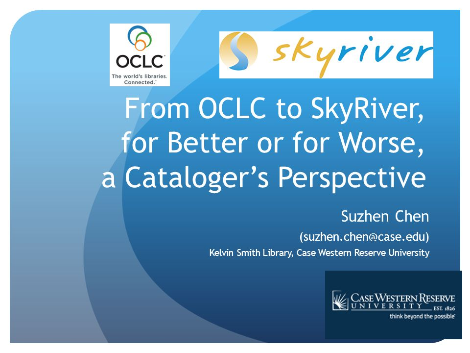 SkyRiver Introduction: bibliographic utility Formal inception in 2009 Founder: Jerry Kline, co-founder of Innovative Interfaces