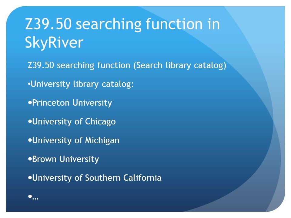 Advanced search in SkyRiver