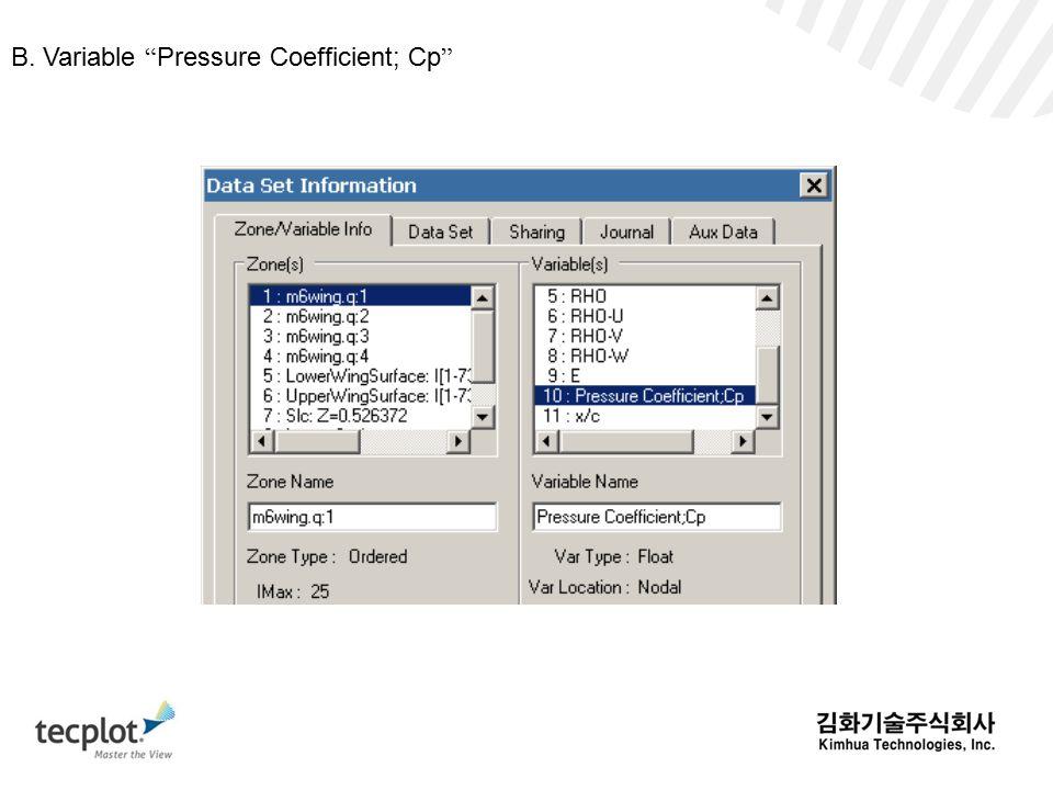 B. Variable Pressure Coefficient; Cp