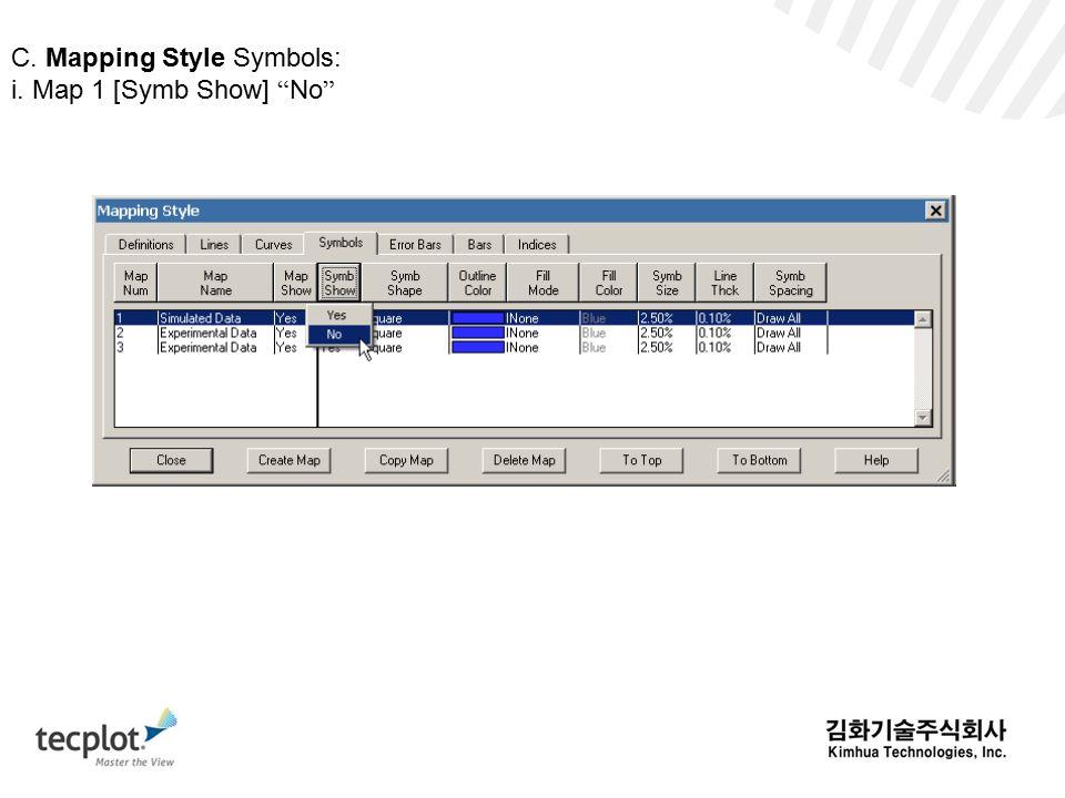 C. Mapping Style Symbols: i. Map 1 [Symb Show] No
