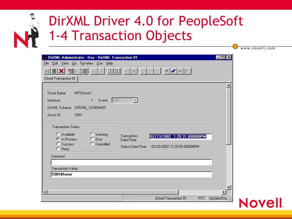 DirXML Driver 4.0 for PeopleSoft 1-4 Transaction Objects
