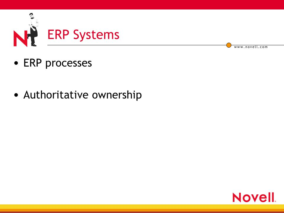 ERP processes Authoritative ownership ERP Systems