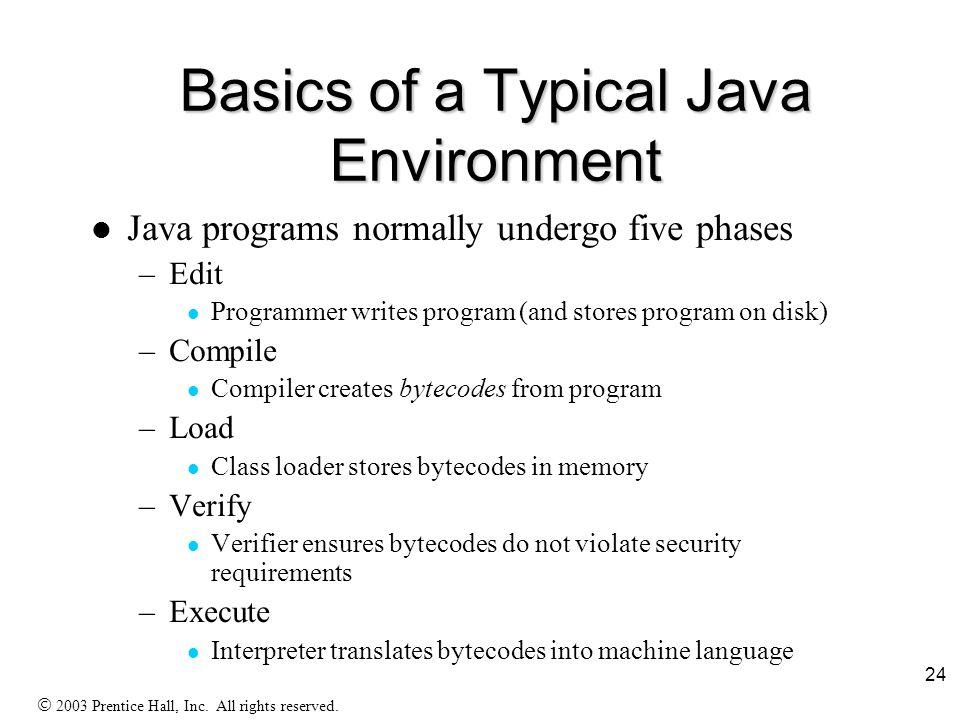 23 Characteristics of Java F Java is simple F Java is object-oriented F Java is distributed F Java is interpreted F Java is robust F Java is secure F