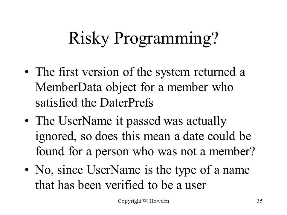 Risky Programming.