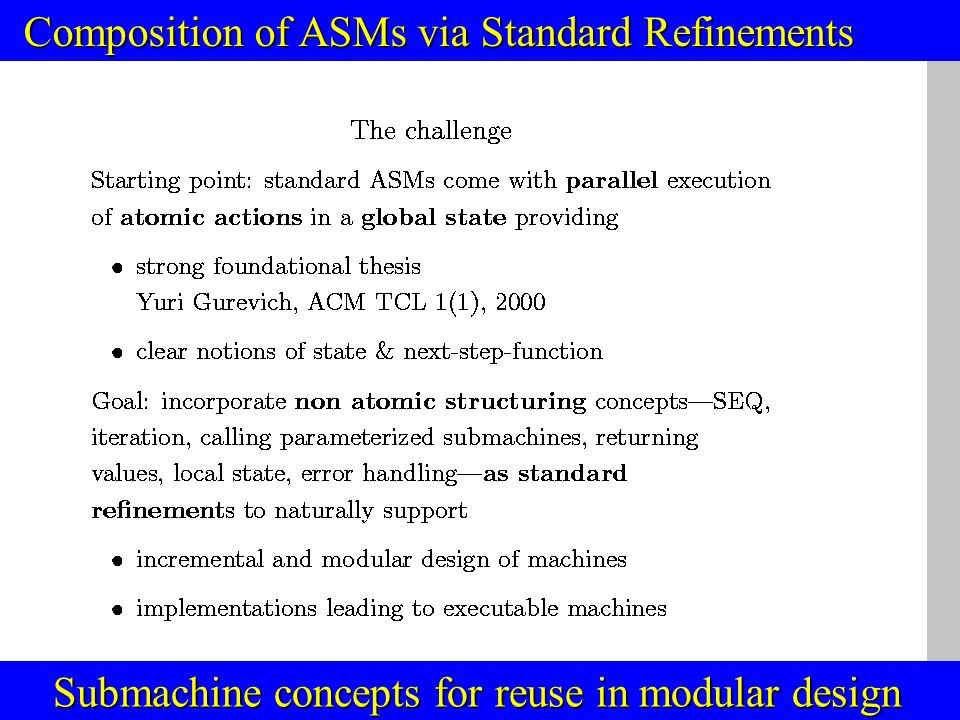 © Egon Börger: Decomposing & Layering JVM 3 ASMs with recursive parameterized submachines E.