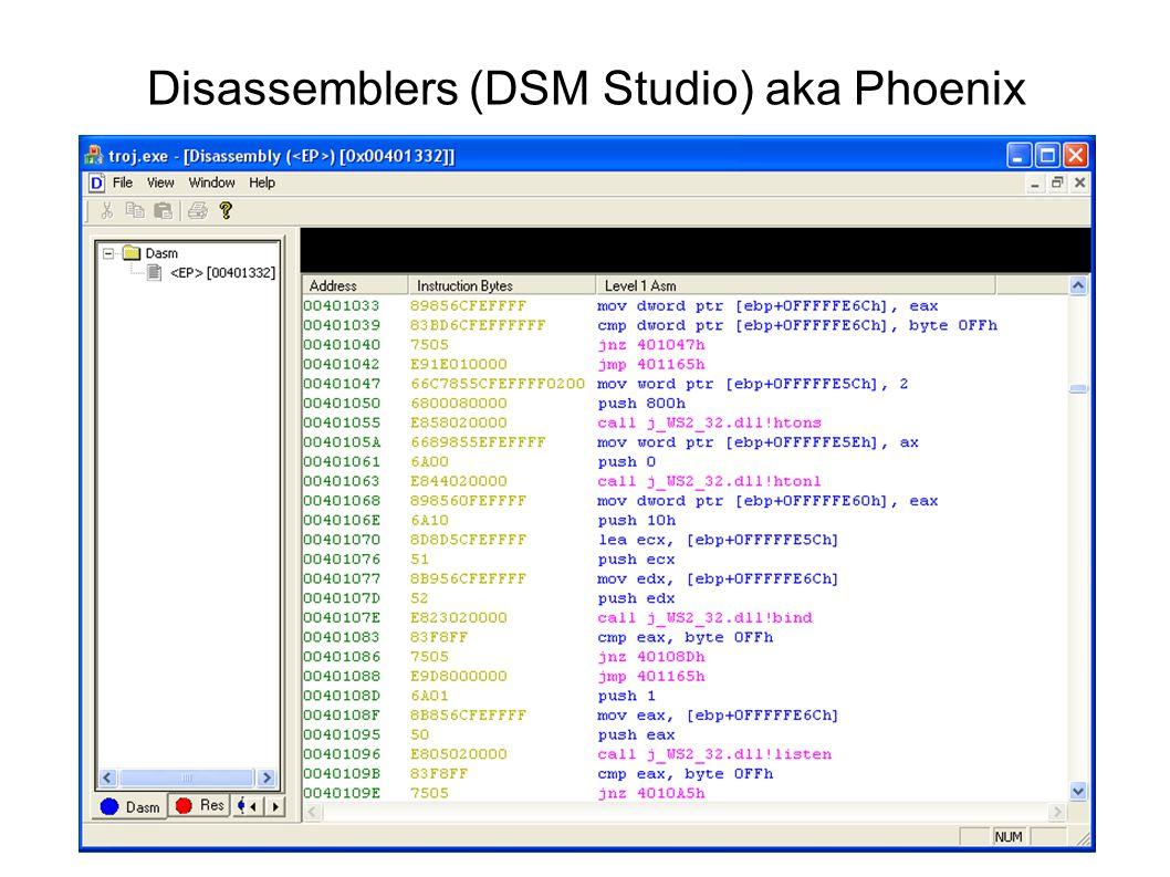 Disassemblers (DSM Studio) aka Phoenix