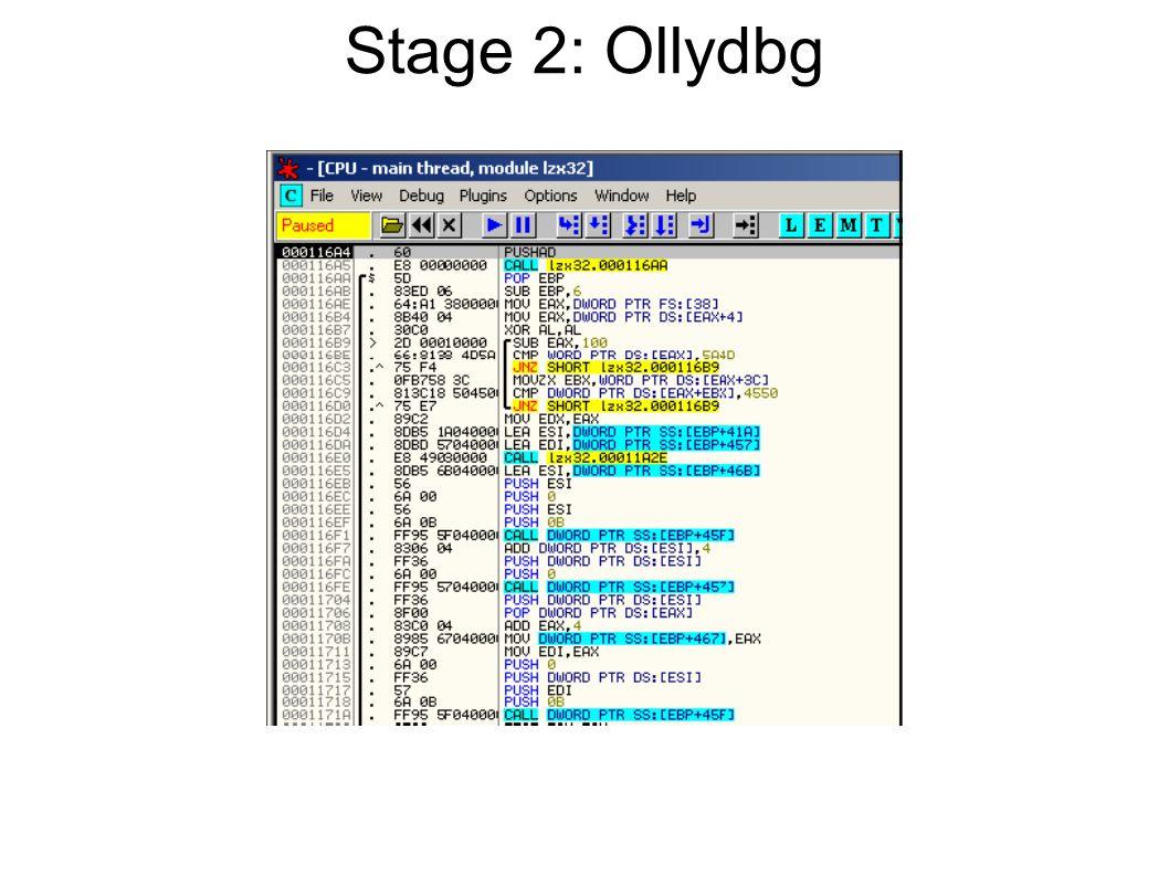 Stage 2: Ollydbg