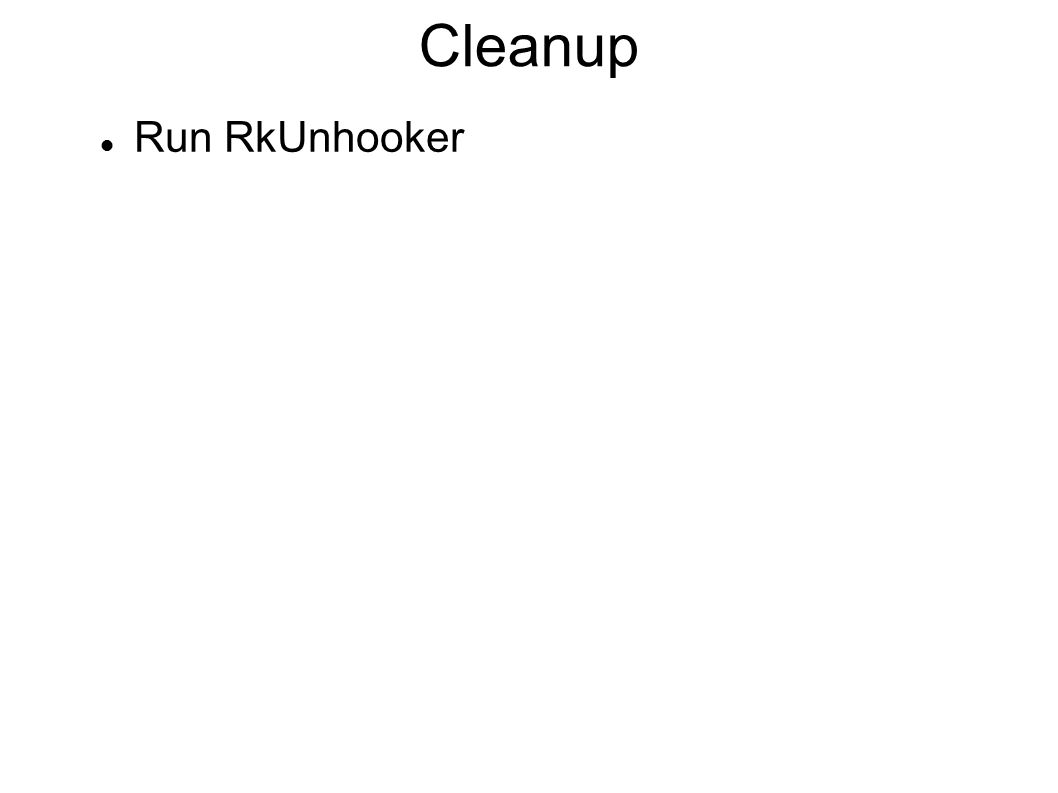 Cleanup Run RkUnhooker