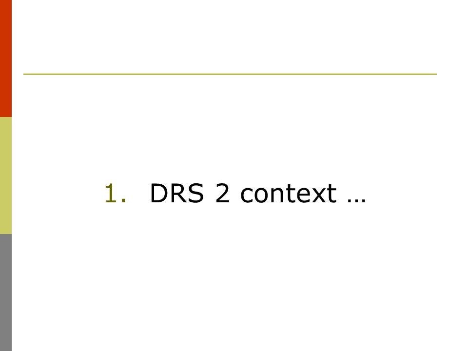 1.DRS 2 context …