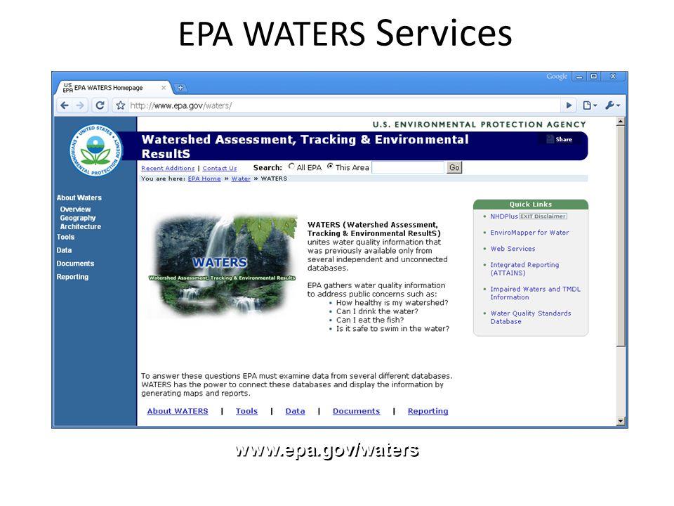 EPA WATERS Services www.epa.gov/waters