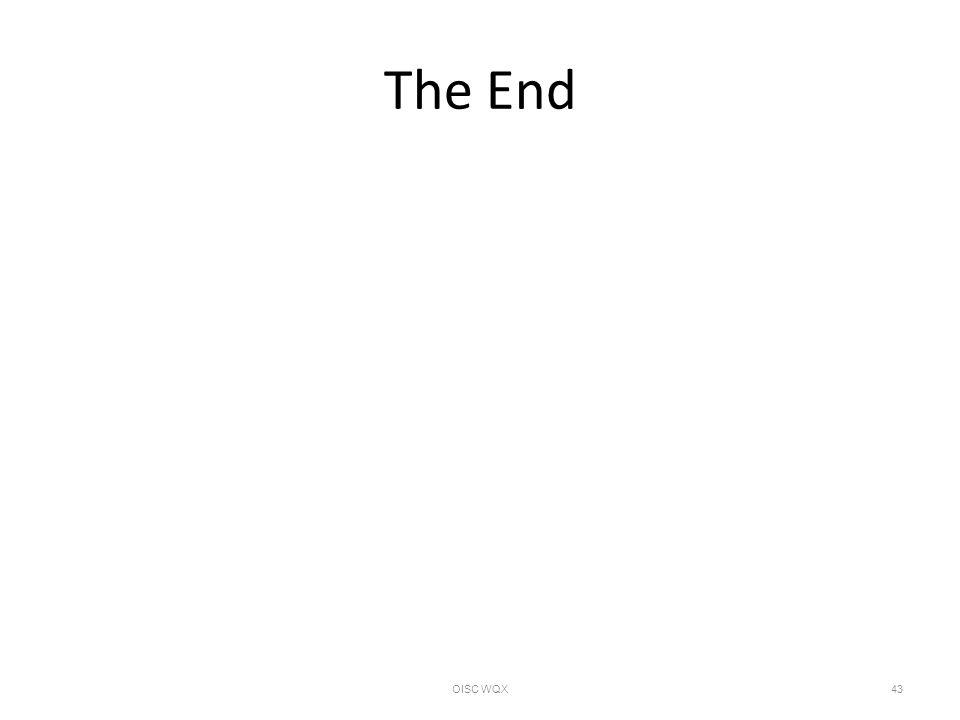 The End OISC WQX43