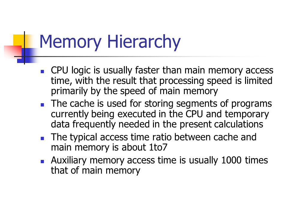 Direct Mapping Associative memory is expensive compared to RAM In general case, there are 2^k words in cache memory and 2^n words in main memory (in our case, k=9, n=15) The n bit memory address is divided into two fields: k-bits for the index and n-k bits for the tag field