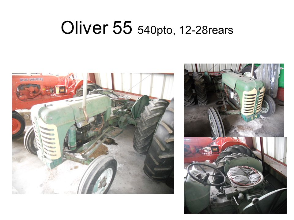 Oliver 55 540pto, 12-28rears